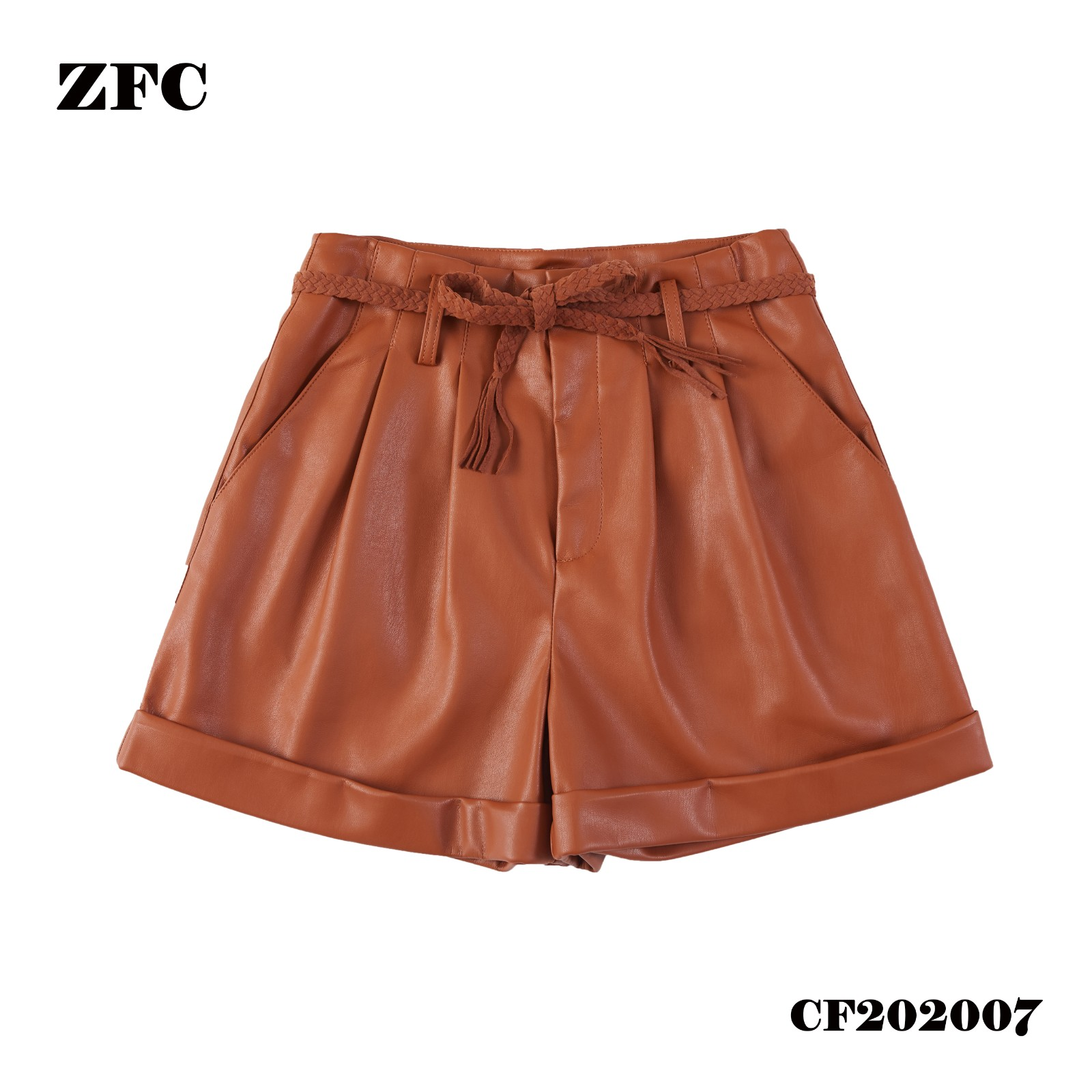 PU shorts for ladies