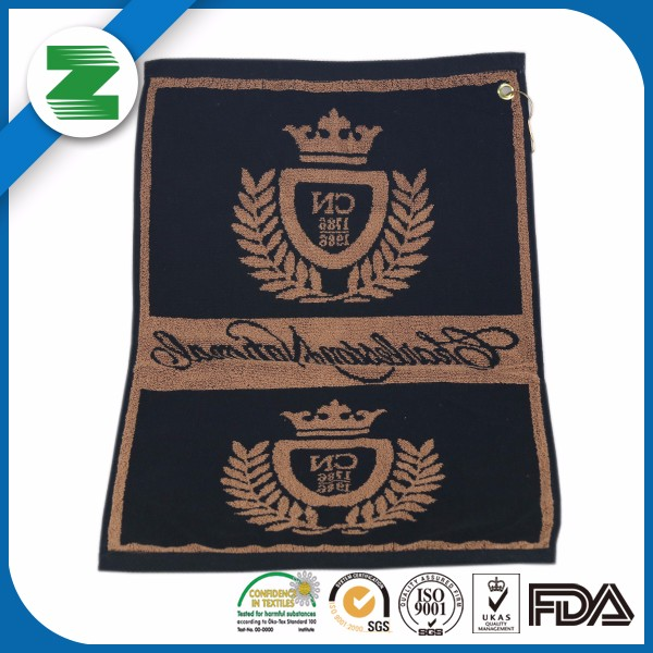 High quality popular 100% jaquard golf towel