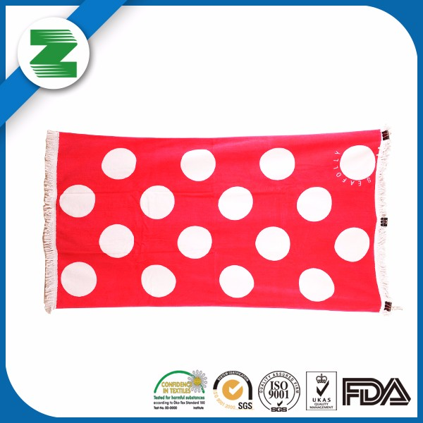 High quality 100% cotton customized beach towel