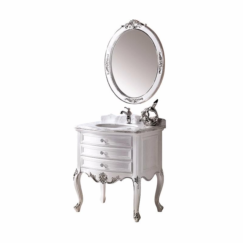 Orans OLS-FG8002BY Solid Wood Classic Bathroom Furniture