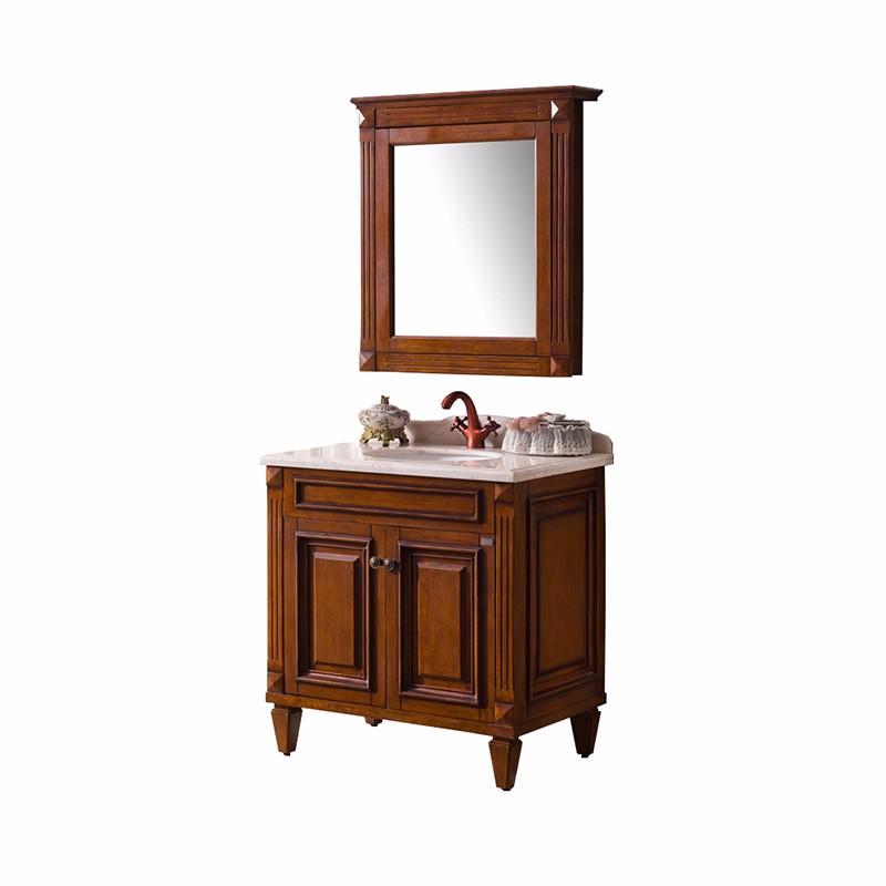 Orans OLS-FG8305A-B Solid Wood Classic Bathroom Furniture