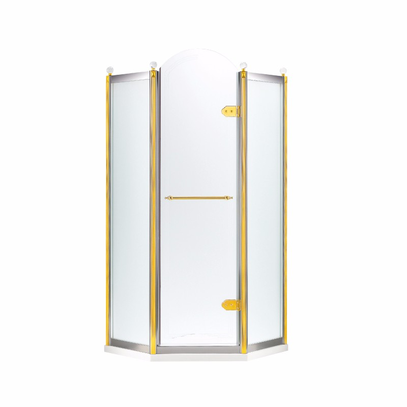 Orans Stainless Steel Sliding Bath Shower Enclosure frameless hinged shower enclosure SR-1656