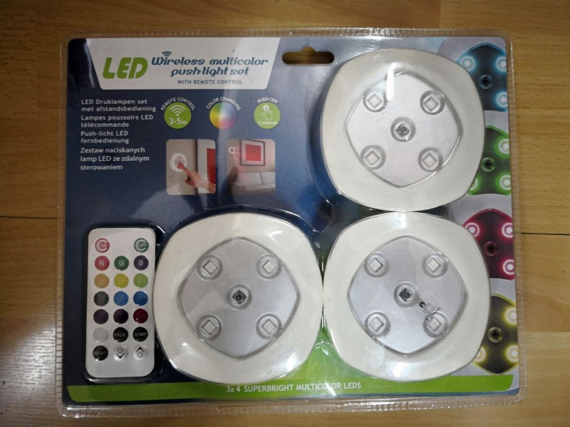Push light 3pcs with remote control